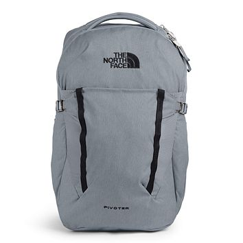 The North Face Pivoter Backpack Mid Grey Dark Heather/TNF Black