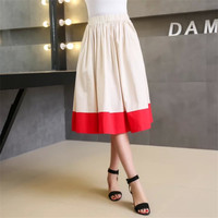 Korean Summer Women's Fashion High Rise With Pocket Skirt [4920258180]