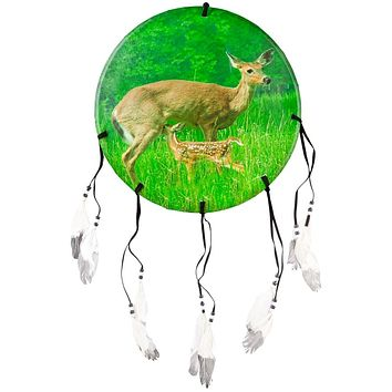 Doe and Fawn in Field Dream Catcher