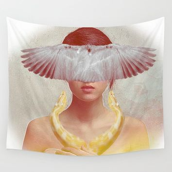 The healer of souls Wall Tapestry by ganech