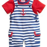 First Impressions Baby Boys' 2-Piece Tee & Shortall Set