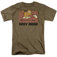 GARFIELD/VINTAGE EASY RIDER - S/S ADULT 18/1 - SAFARI GREEN -
