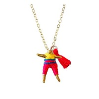 Friendship Bridge Worry Doll Necklace