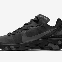 HCXX 19Aug 133 Nike React Element 55 Triple Black BQ6166-008 Casual Sports Running Shoes