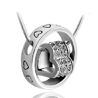 Shiny Gift New Arrival Stylish Crystal Heart Ring Jewelry Romantic Necklace [6057473793]