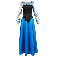 SIDNOR The Little Mermaid Ariel Cosplay Costume Princess Party Dress Ball Gown Outfit Large