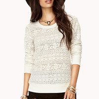 Long Sleeve Lace Top