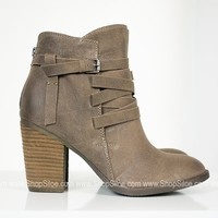 Chocolate Strappy Booties