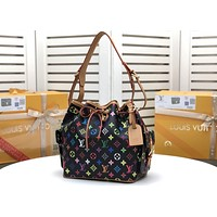 LV Louis Vuitton Newest Popular Women Leather Handbag Tote Crossbody Shoulder Bag Satchel