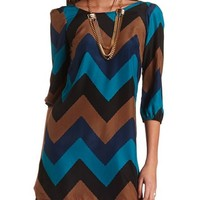 Zip-Back Chevron Shift Dress: Charlotte Russe