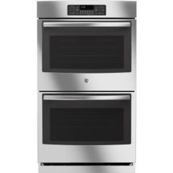 GE, 30 in. Double Electric Wall Oven Self-Cleaning in Stainless Steel, JT3500SFSS at The Home Depot - Mobile