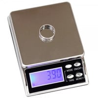 200g x 0.01g Digital Pocket Scale for Jewelry - Gold - Weed with Cover Silver g - tl - oz - ct