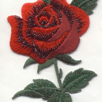 Iron On Patch ROSE RED Applique Iron or Sew On patch by Cedar Creek patch Shop on Etsy