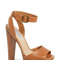 "Women's Steve Madden 'Gingeer' Leather Platform Sandal, 5 1/2"" heel"
