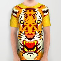 Geometric Tiger All Over Print Shirt by Chobopop