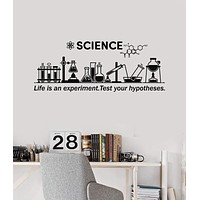 Classroom Wall Decal Science Inspire Chemical Lab School  Decor Stickers Mural (ig5306)