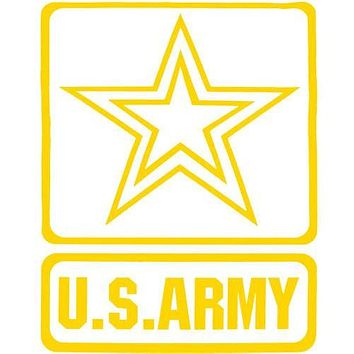 Army Star 13 Inch Jumbo Clear Vinyl Transfer