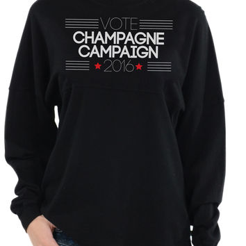 Vote Champagne And Campaign 2016 - Long Sleeve Tee