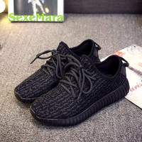 free shipping 2016 high quality Grey Black 350 Men and Women Shoes