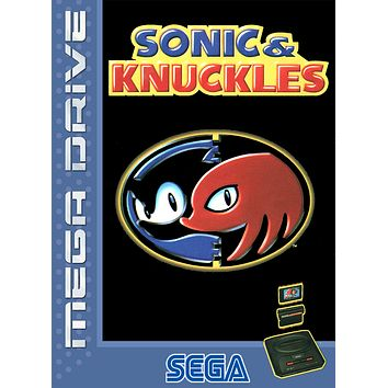 Retro Sonic and Knuckles Game Poster//Sega Game Poster//Video Game Poster//Vintage Game Reprint