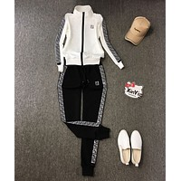 FENDI Women Long Sleeve Shirt Sweater Pants Sweatpants Set Two-Piece