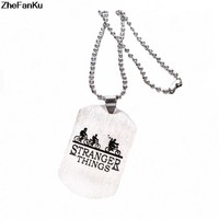 New Hot Stranger Things Hawkins Necklace Friends Bike Bus Pendant Hot TV Series Fashion Jewelry For Women and Men fans