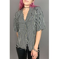 PRL Seein' Double Studded Striped Blouse