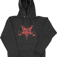 Thrasher Blackout Hoodie/Sweater Small Black/Red