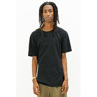 Premium Linen T-Shirt in Black