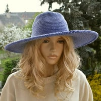 Women Slouchy Hat COTTON  Cute Crochet Summer Hat aWeSomE Style tam romantic feminine