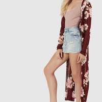 Flower Pick Mesh Cardigan