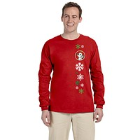 Dalmatian Red Snowflakes  Long Sleeve Red Unisex Tshirt XL SS4699-LS-RED-XL