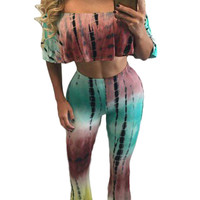 Stylish Tie Dye 2 Piece Pant Set