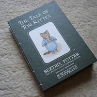 Notebook The tale of Tom Kitten (upcycled)