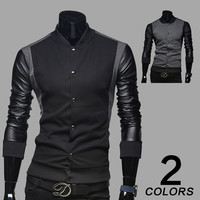 Korean Stylish Strong Character Mosaic Hoodies Men Jacket [6528702595]