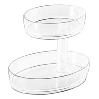 InterDesign Clarity 2 Tier Vanity Tray - Small, Clear