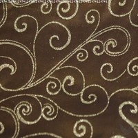 Koyal 15 by 72-Inch Satin Table Runner, Chocolate Brown Satin with Chocolate Brown Swirl