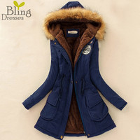 2016 Thickening Warm Winter Fur Collar Coats Jackets for Women Women's Long Down Parka Plus Size Parka Hoodies High Quality