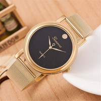 Womens Girls Unique Classic Casual Sports Watches Gold Alloy Strap Watch Best Christmas Gift+ Gift Box
