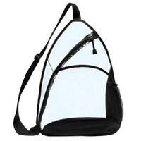 Transparent Sling Backpack Clear / Black CBP-876