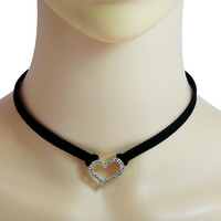 Heart Gothic Style Simple Choker Necklace