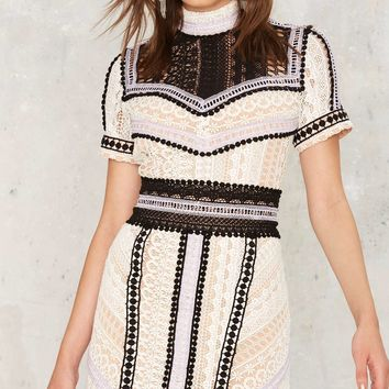 Nasty Gal Sentimental Lady Crochet Lace Dress