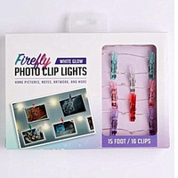 Multi-Colored Firefly LED Photo Clip String Lights