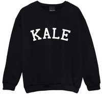 KALE SWEATER JUMPER yonce flawless funny fun tumblr hipster swag grunge kale goth punk new retro vtg pastel pink top tee crop surfboard