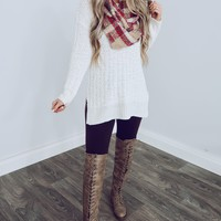 Higher Love Sweater: Ivory
