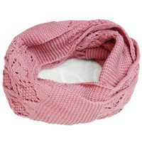 Pink Cut-outs Scarf