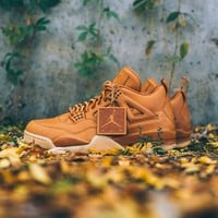 qiyi Air Jordan 4 Retro Premium Wheat