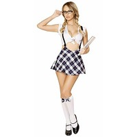 Sexy Little School Girl Flair Skirt Halloween Costume