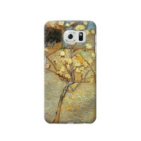P1978 Van Gogh Letter Pear Tree Blossom Phone Case For Samsung Galaxy S6 edge