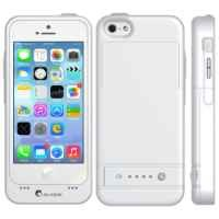i-Blason Apple iPhone 5C PowerGlider Rechargeable External Battery Full Protection Case [iOS 7 Compatible] with Apple new 8 Pin Lightning Charging Connectors - AT&T, Sprint, Verizon. T-Mobile (White)